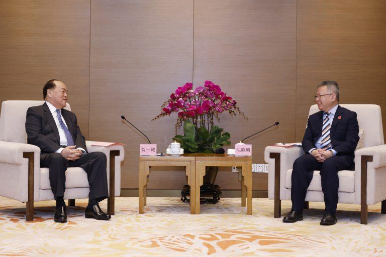 Ho Iat Seng and Shen Xiaoming
