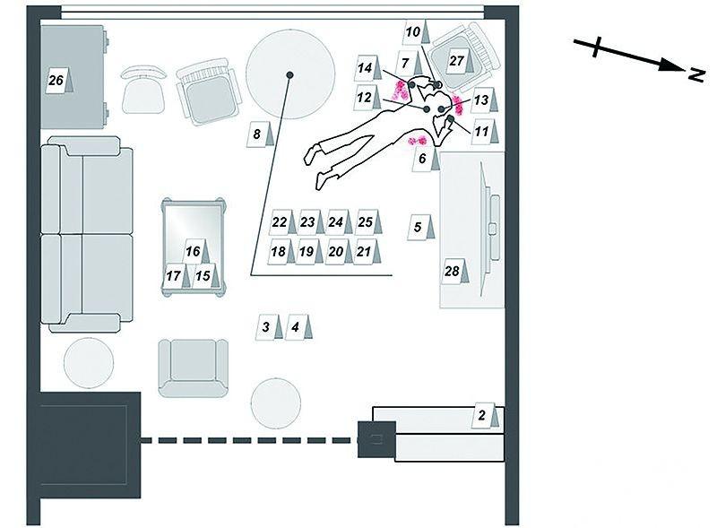 crime scene floor plan
