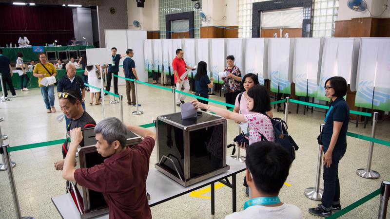 election polling stations Macau