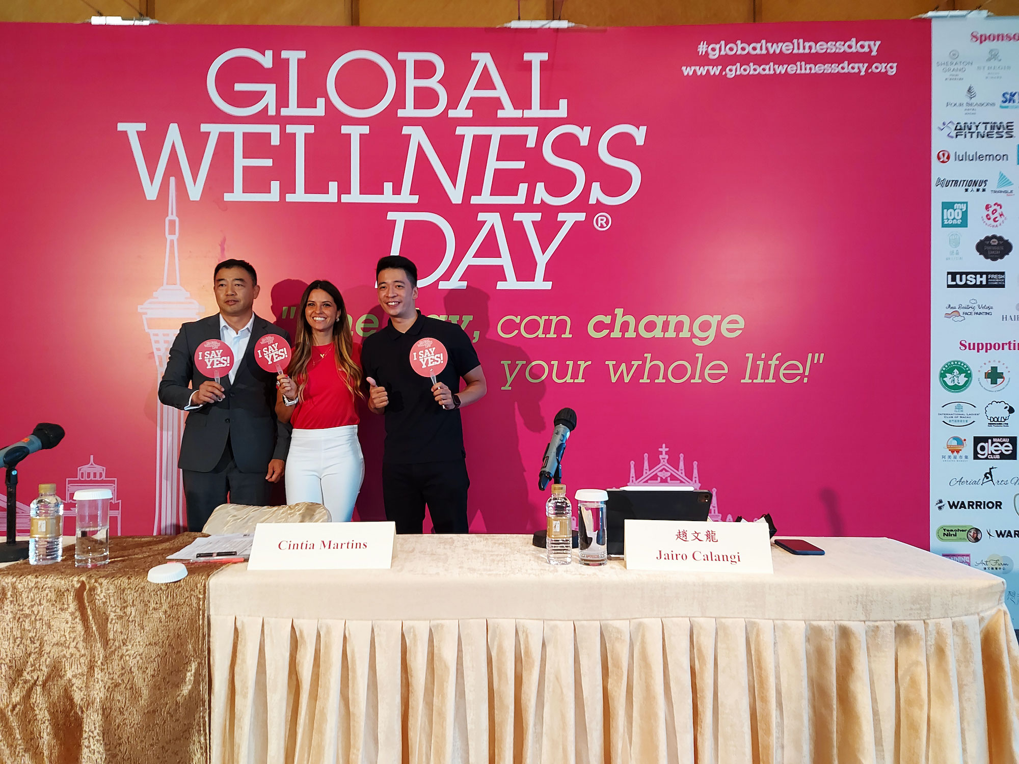 Global Wellness Day press conference