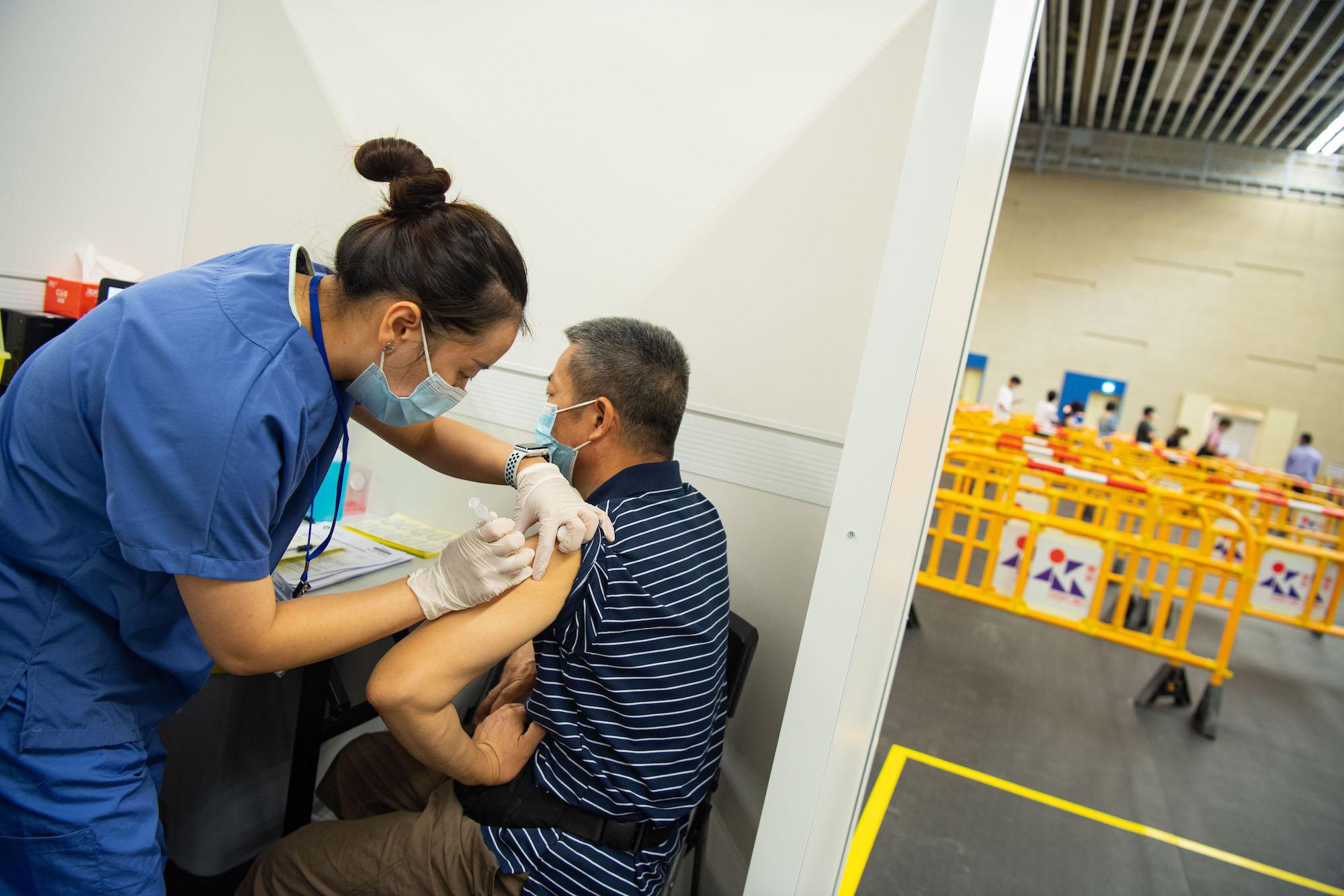 Macau walk-in vaccination