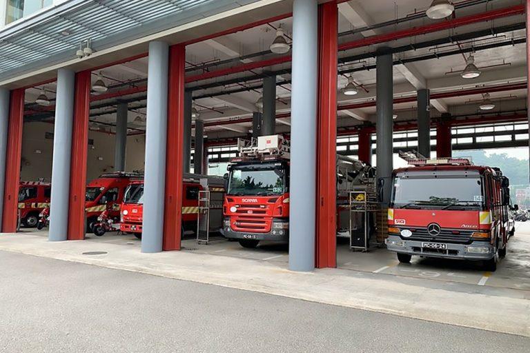 Macau fire trucks