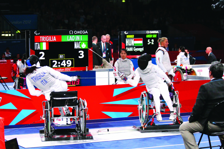 Lao In I competed in wheelchair fencing at the 2012 Paralympic Games in London, United Kingdom