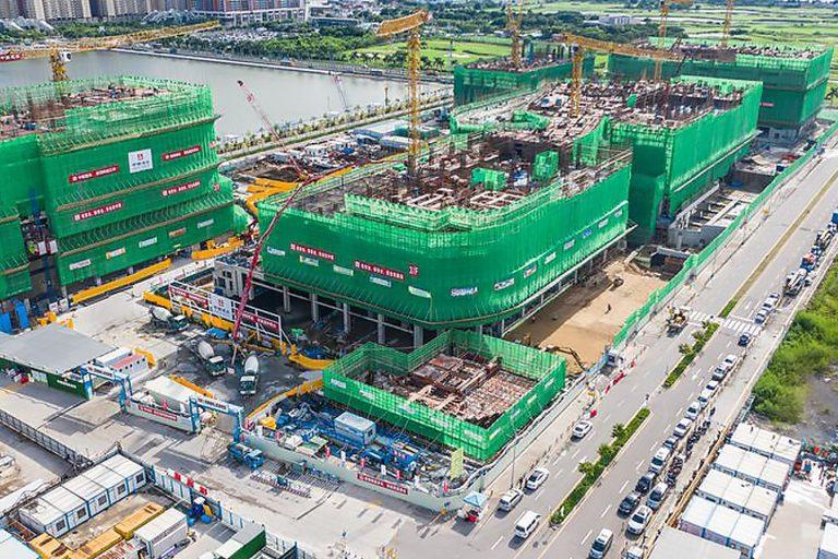 Islands Healthcare Complex under construction