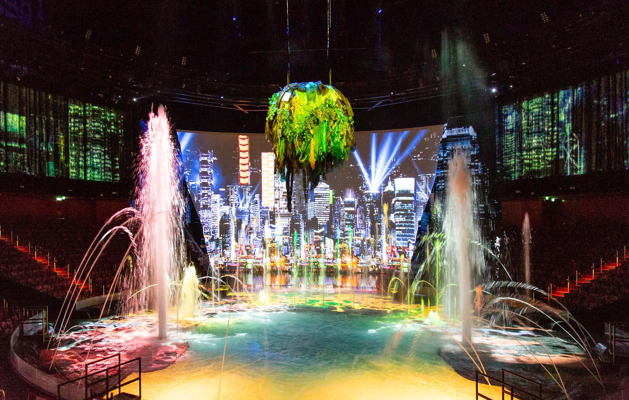 LA MER opening ceremony in House of Dancing Water Theater at City of Dreams