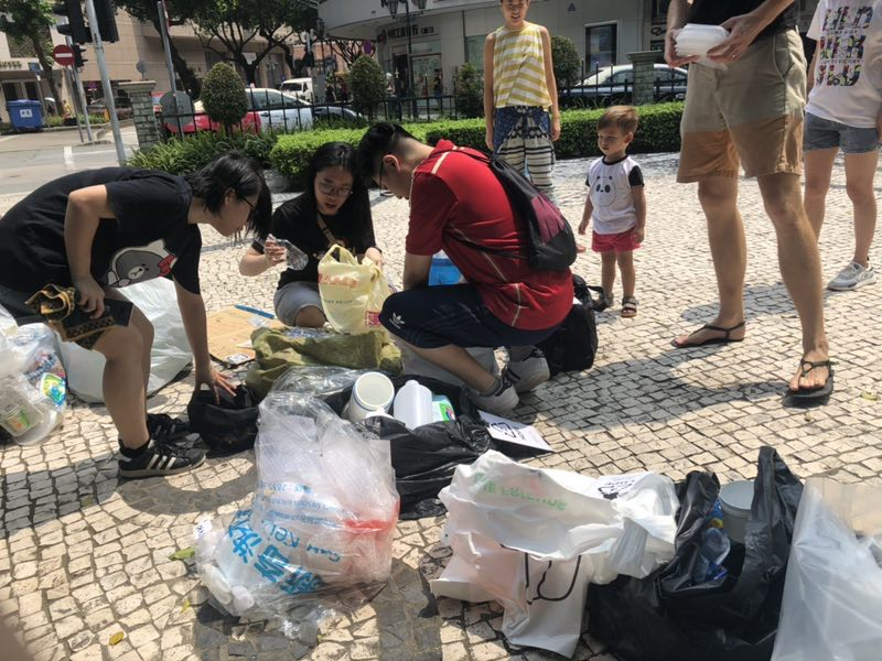 Macau for Waste Reduction organises recycling stations across Macao