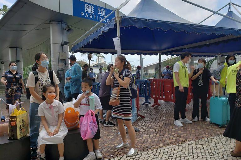 Macao students at the border