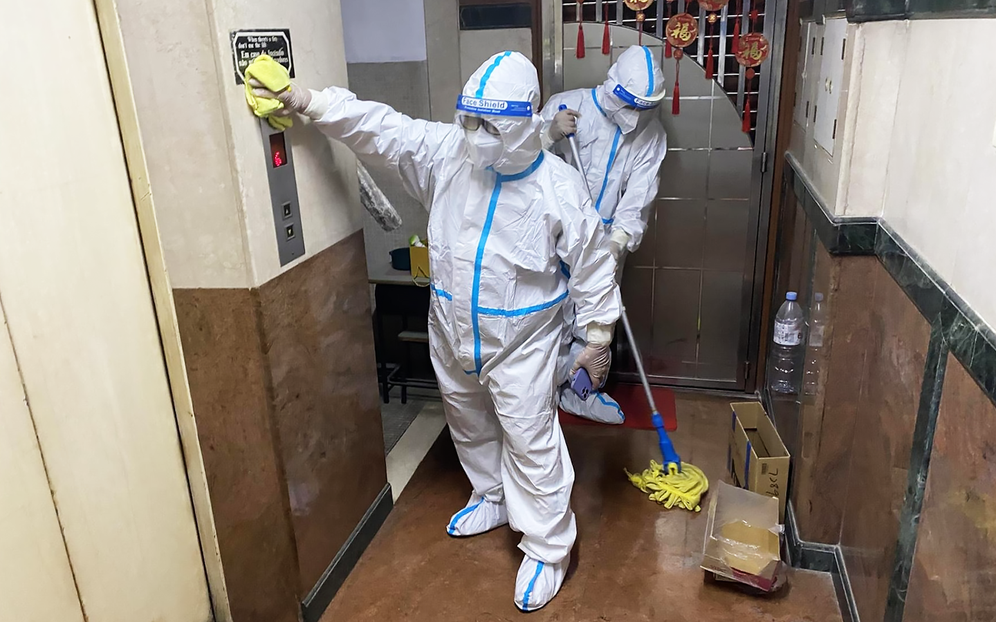 Cleaning 72nd work place